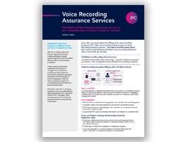 Voice Recording Assurance Services