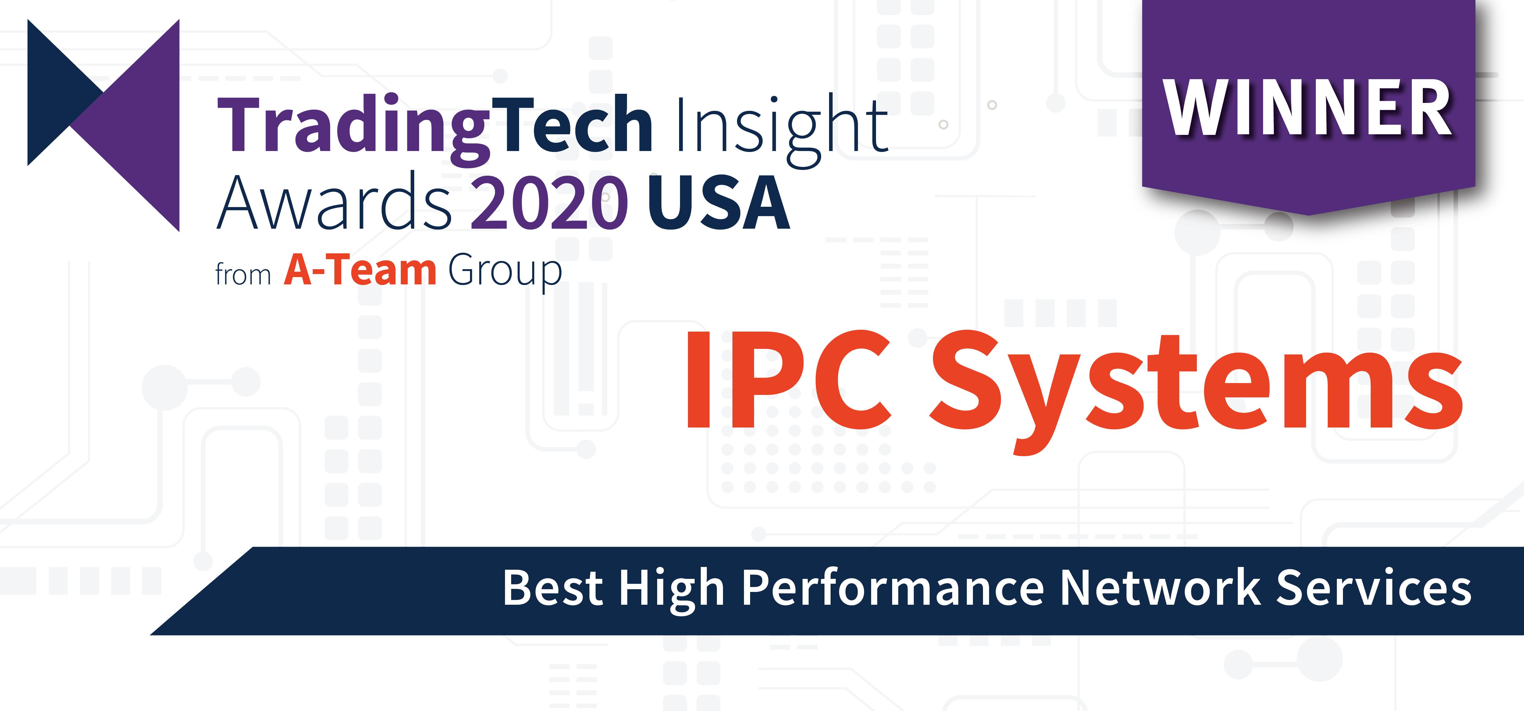 'Best High Performance Network Services' – TradingTech Insight Awards 2020